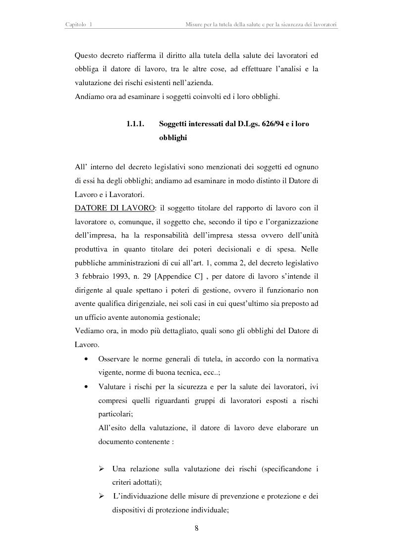Anteprima della tesi: Stesura di procedure di lavoro per i laboratori di didattica e ricerca scientifica, Pagina 8