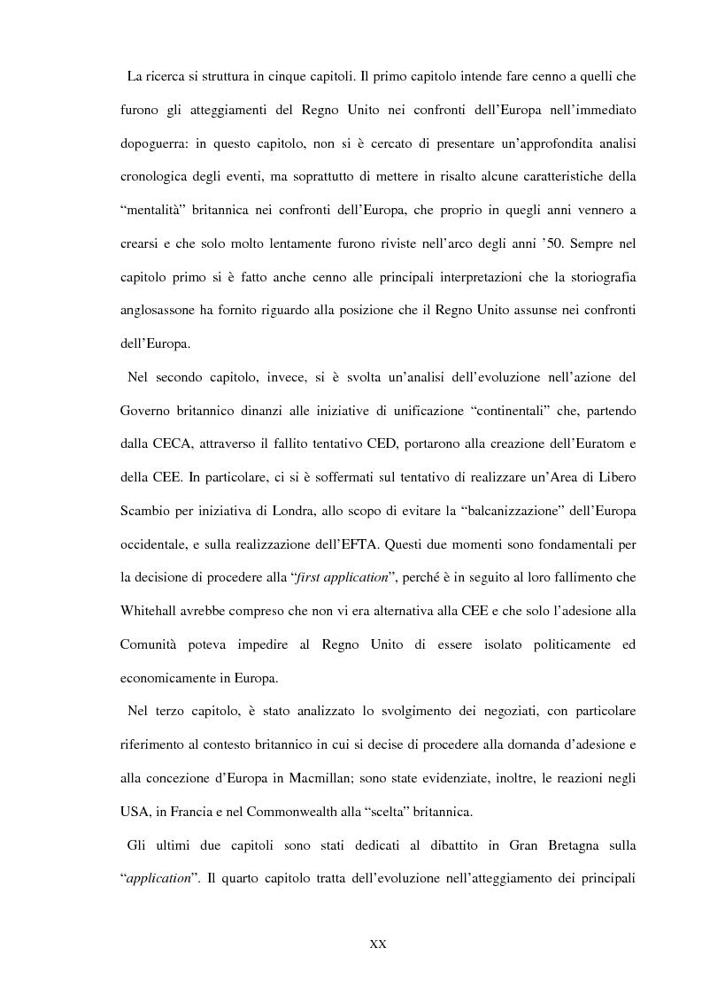 Anteprima della tesi: Una scelta contrastata. L'adesione del Regno Unito alla Comunità europea (1945-1963), Pagina 14