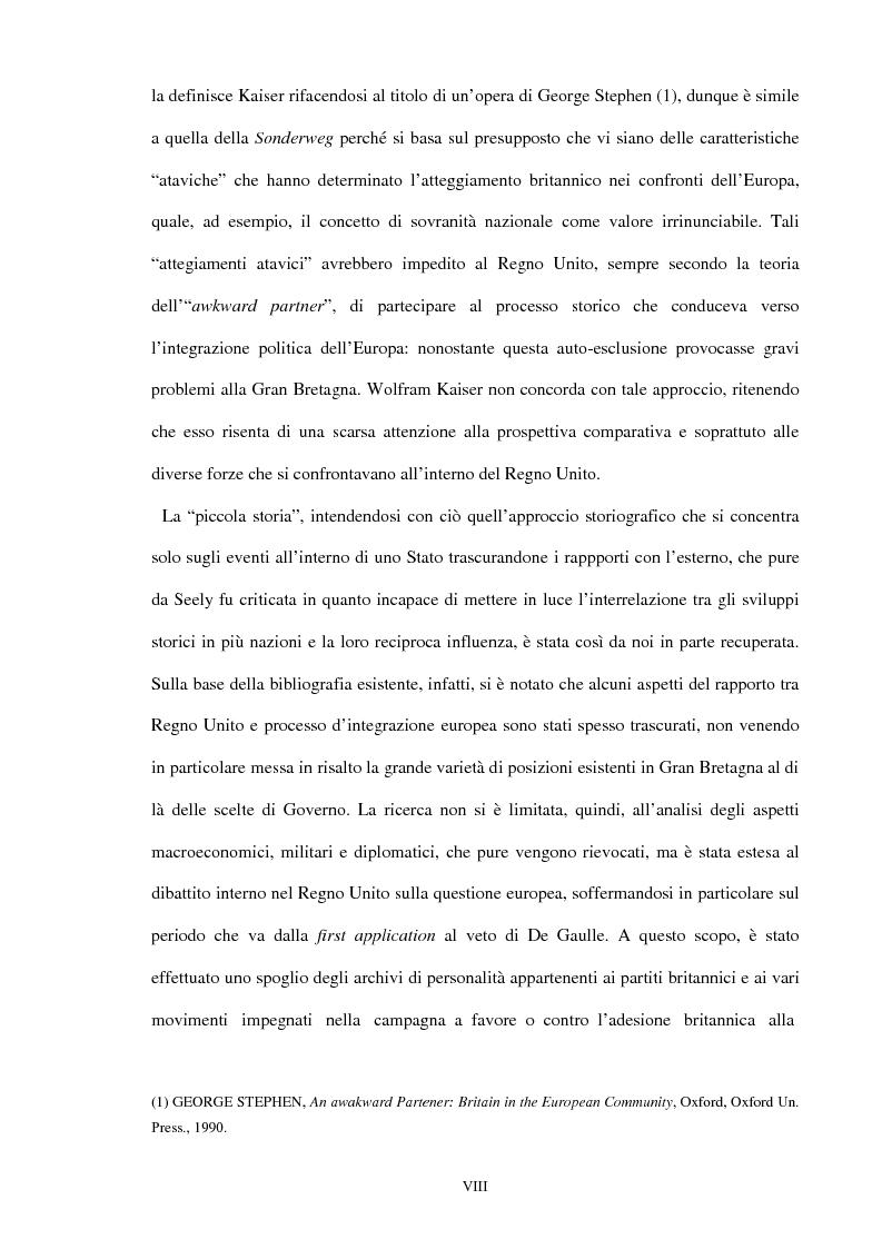 Anteprima della tesi: Una scelta contrastata. L'adesione del Regno Unito alla Comunità europea (1945-1963), Pagina 2