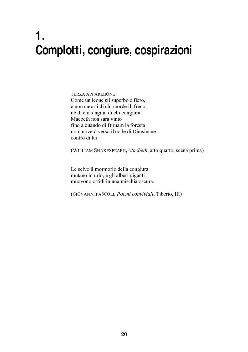 Anteprima della tesi: Complotto, congiura, cospirazione. L'uso politico delle teorie cospiratorie nei quotidiani italiani, Pagina 13