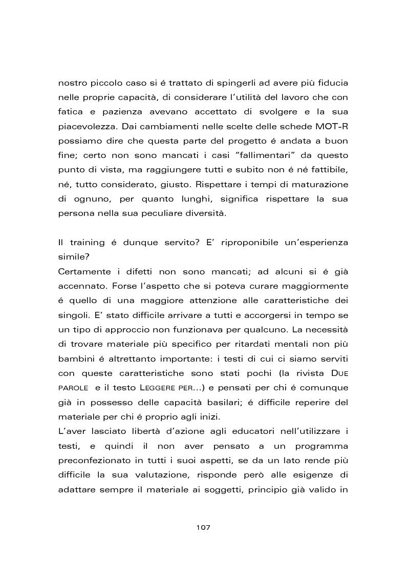 Anteprima della tesi: Risultati di un trattamento per il miglioramento delle abilità di lettura e di scrittura in soggetti con ritardo mentale, Pagina 13