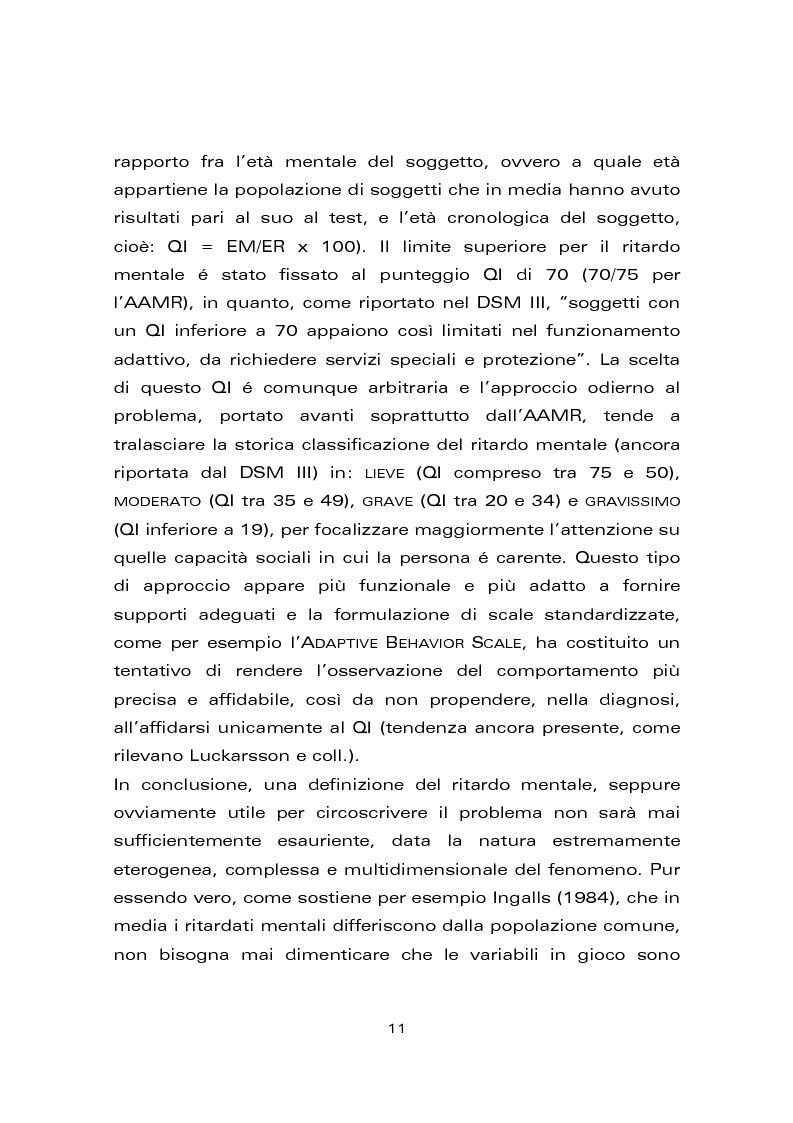 Anteprima della tesi: Risultati di un trattamento per il miglioramento delle abilità di lettura e di scrittura in soggetti con ritardo mentale, Pagina 3