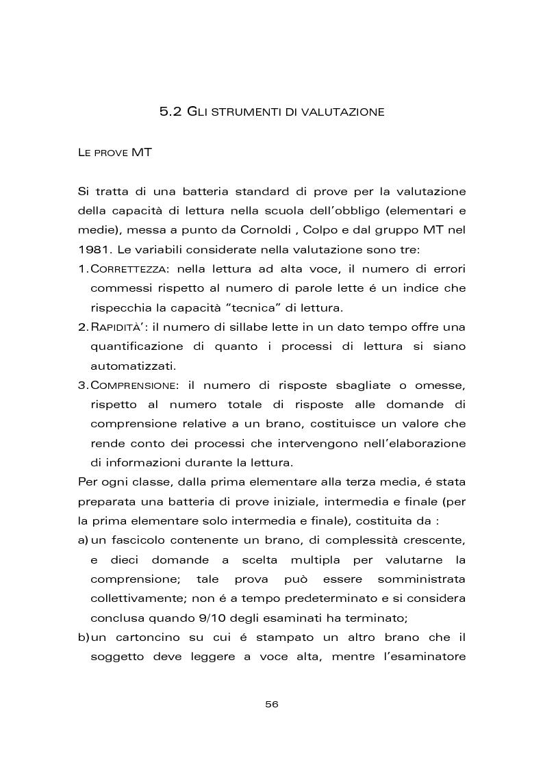 Anteprima della tesi: Risultati di un trattamento per il miglioramento delle abilità di lettura e di scrittura in soggetti con ritardo mentale, Pagina 6