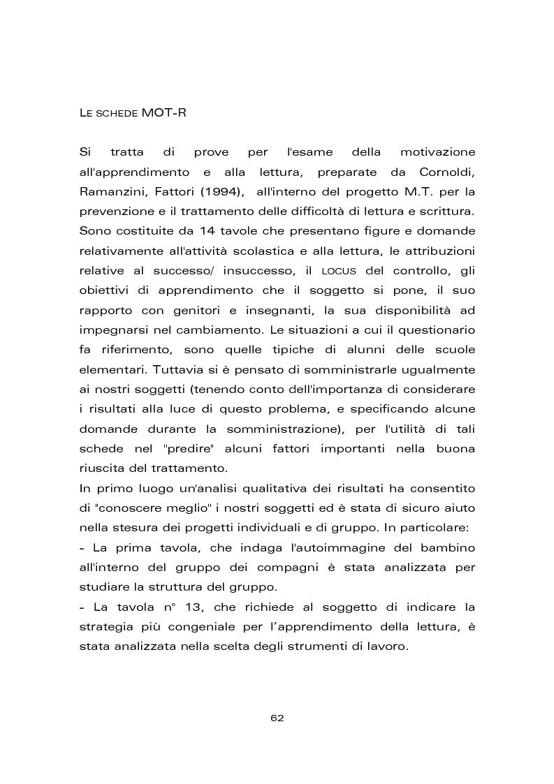 Anteprima della tesi: Risultati di un trattamento per il miglioramento delle abilità di lettura e di scrittura in soggetti con ritardo mentale, Pagina 8