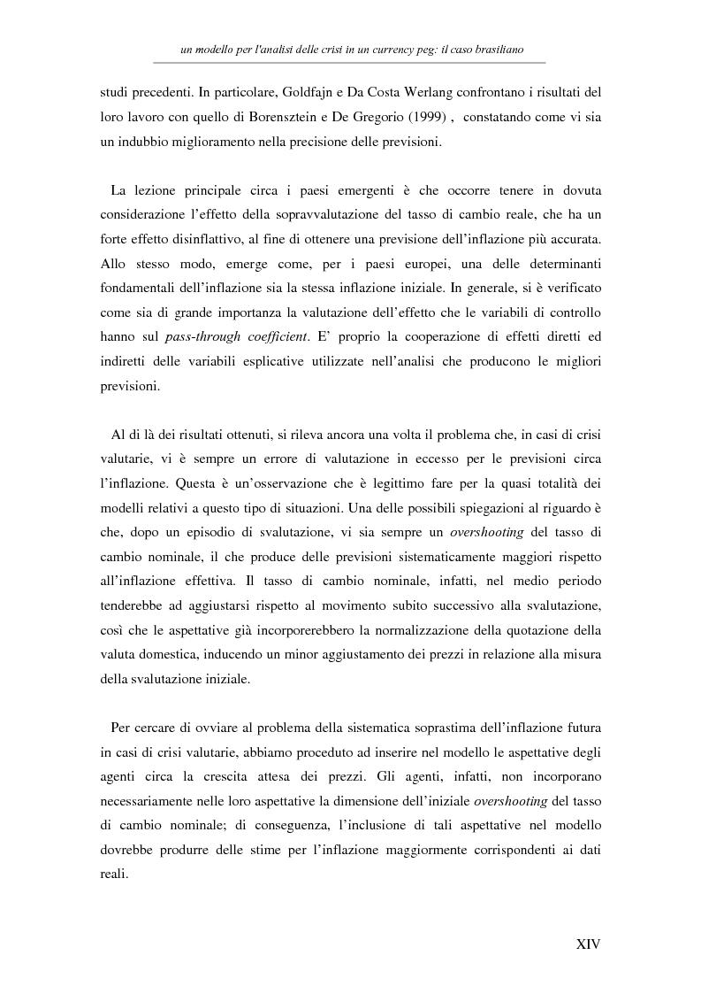 Anteprima della tesi: Un modello per l'analisi delle crisi in un currency peg: il caso brasiliano, Pagina 12