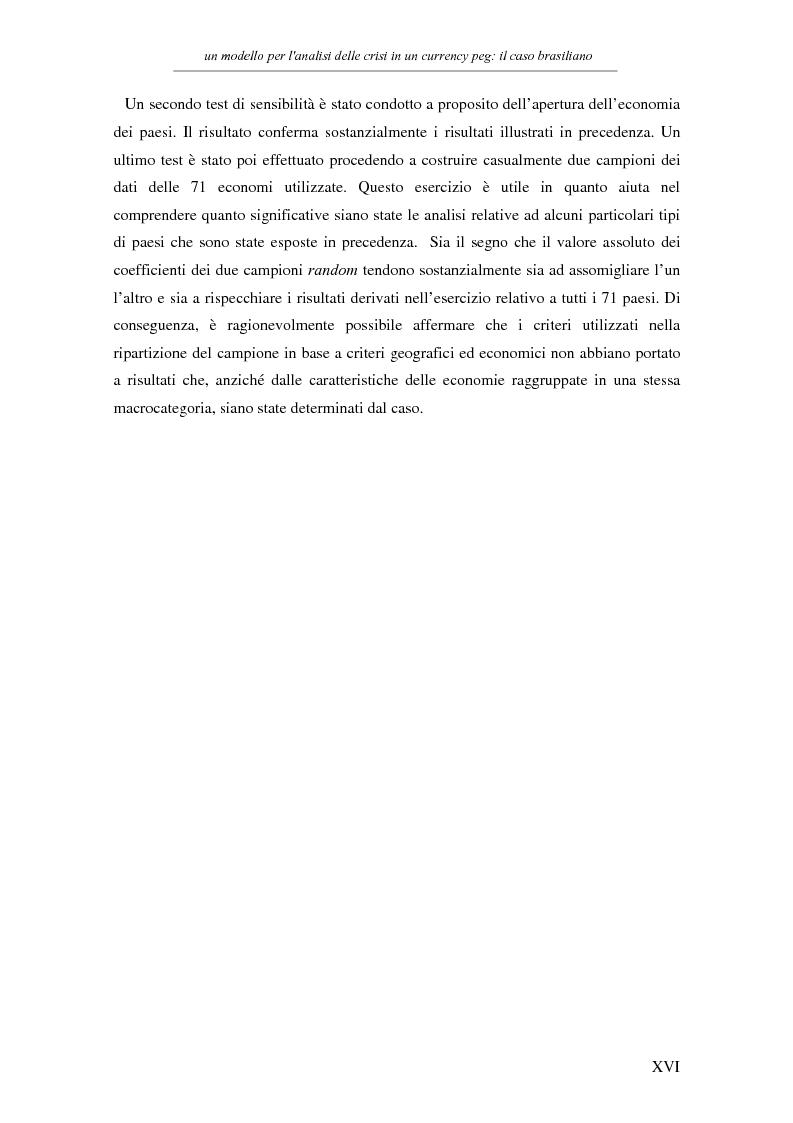Anteprima della tesi: Un modello per l'analisi delle crisi in un currency peg: il caso brasiliano, Pagina 14