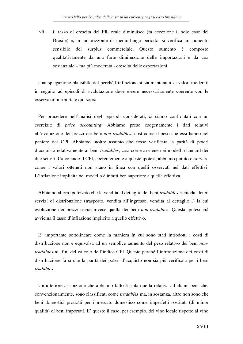Anteprima della tesi: Un modello per l'analisi delle crisi in un currency peg: il caso brasiliano, Pagina 16