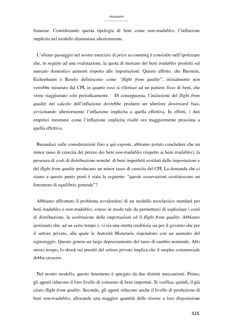 Anteprima della tesi: Un modello per l'analisi delle crisi in un currency peg: il caso brasiliano, Pagina 17