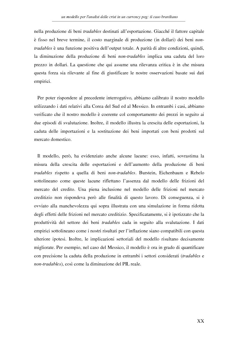 Anteprima della tesi: Un modello per l'analisi delle crisi in un currency peg: il caso brasiliano, Pagina 18