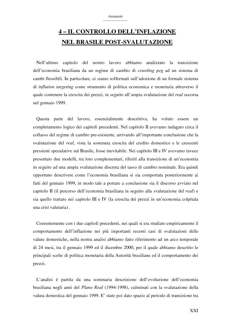 Anteprima della tesi: Un modello per l'analisi delle crisi in un currency peg: il caso brasiliano, Pagina 19