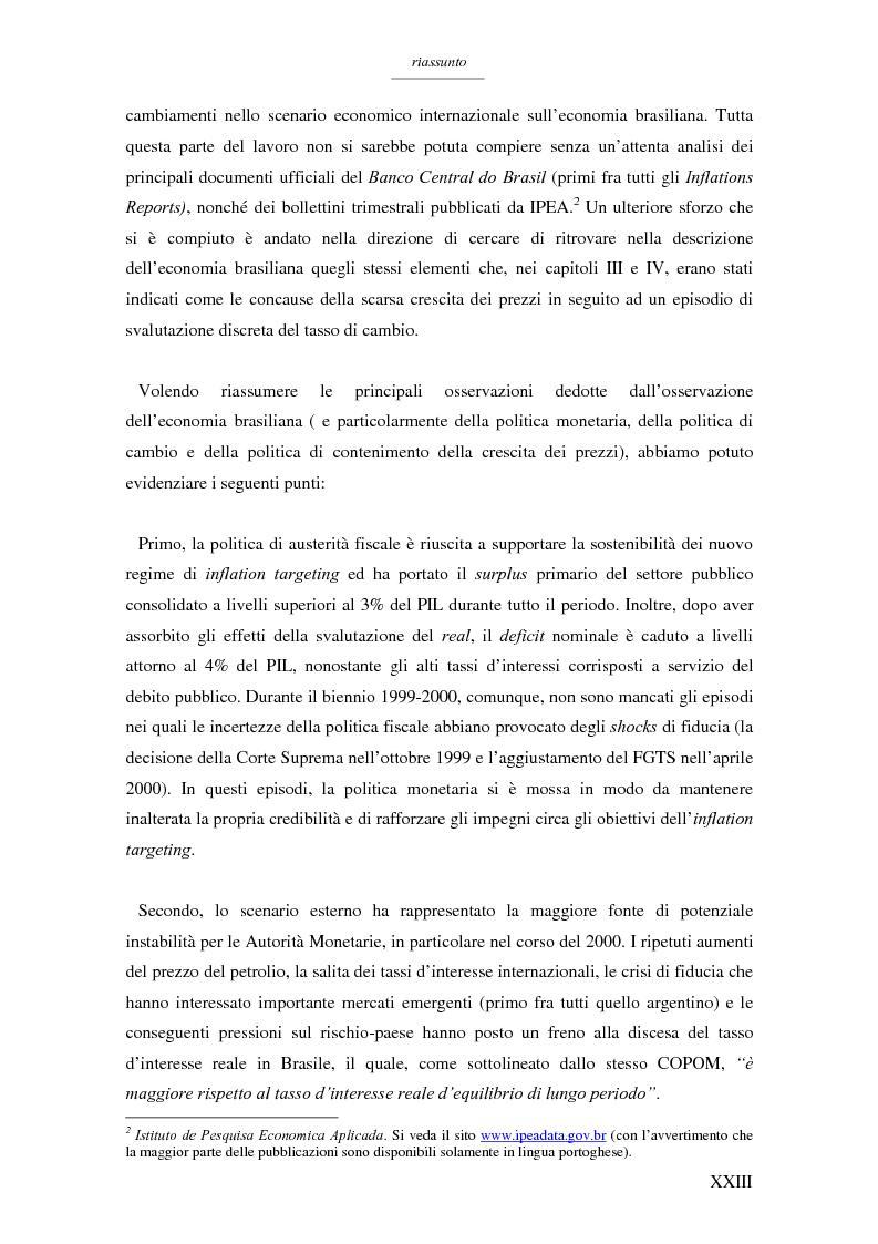 Anteprima della tesi: Un modello per l'analisi delle crisi in un currency peg: il caso brasiliano, Pagina 21