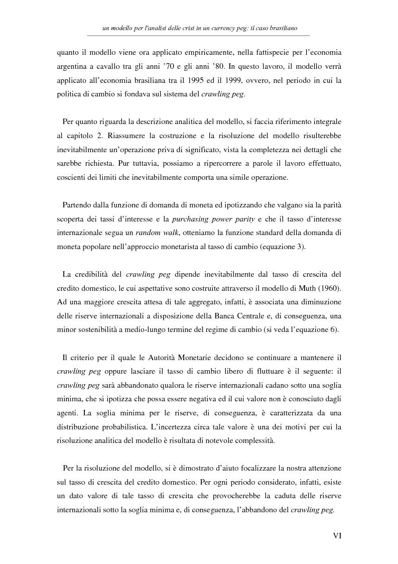 Anteprima della tesi: Un modello per l'analisi delle crisi in un currency peg: il caso brasiliano, Pagina 4