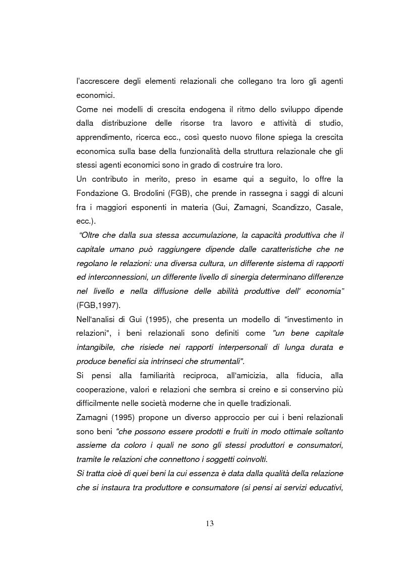 Anteprima della tesi: Economia dell'apprendimento e socializzazione al lavoro: un caso di deindustrializzazione, Pagina 10