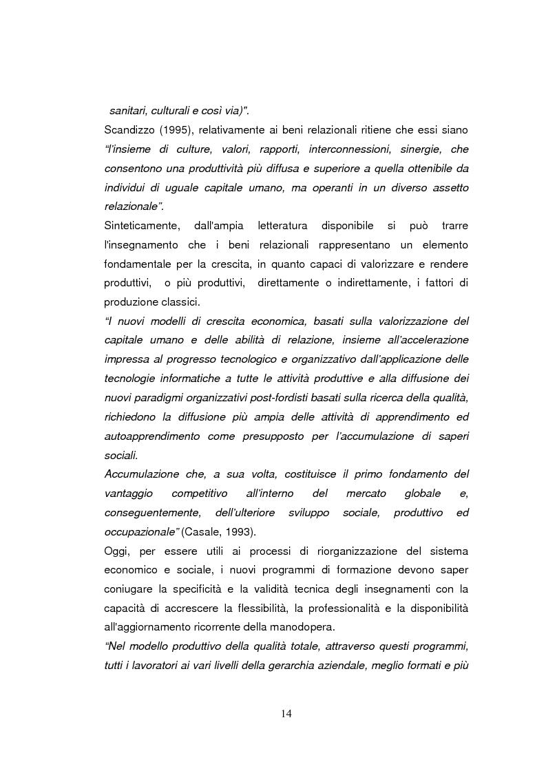 Anteprima della tesi: Economia dell'apprendimento e socializzazione al lavoro: un caso di deindustrializzazione, Pagina 11