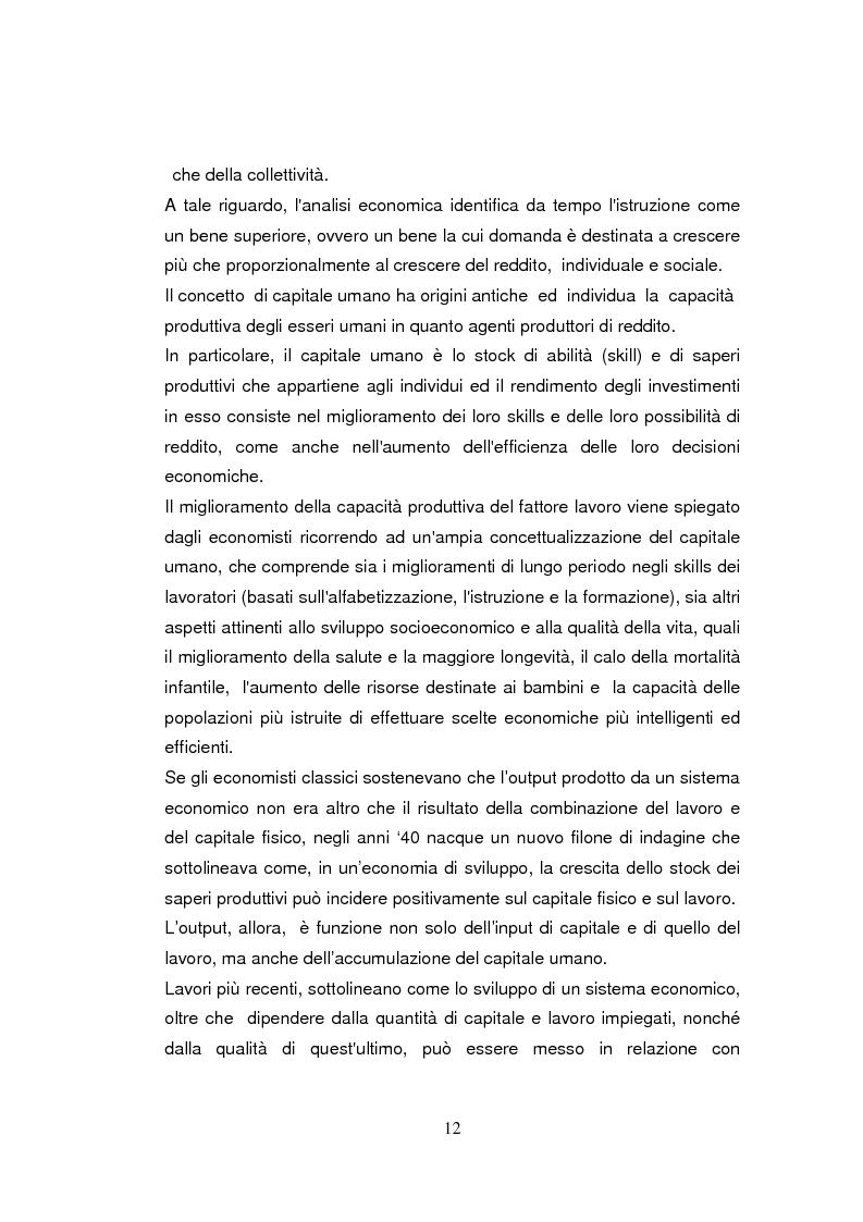 Anteprima della tesi: Economia dell'apprendimento e socializzazione al lavoro: un caso di deindustrializzazione, Pagina 9