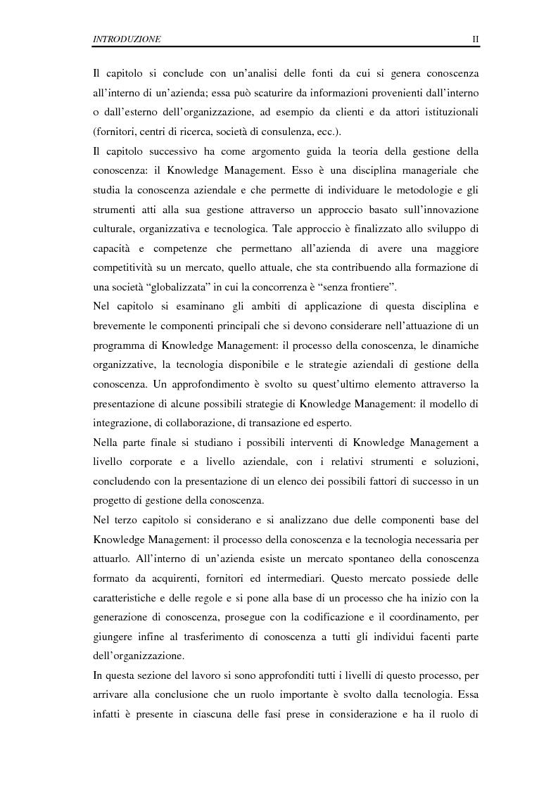 Anteprima della tesi: La selezione e la formazione on-line come supporto alla gestione del capitale intellettuale, Pagina 2