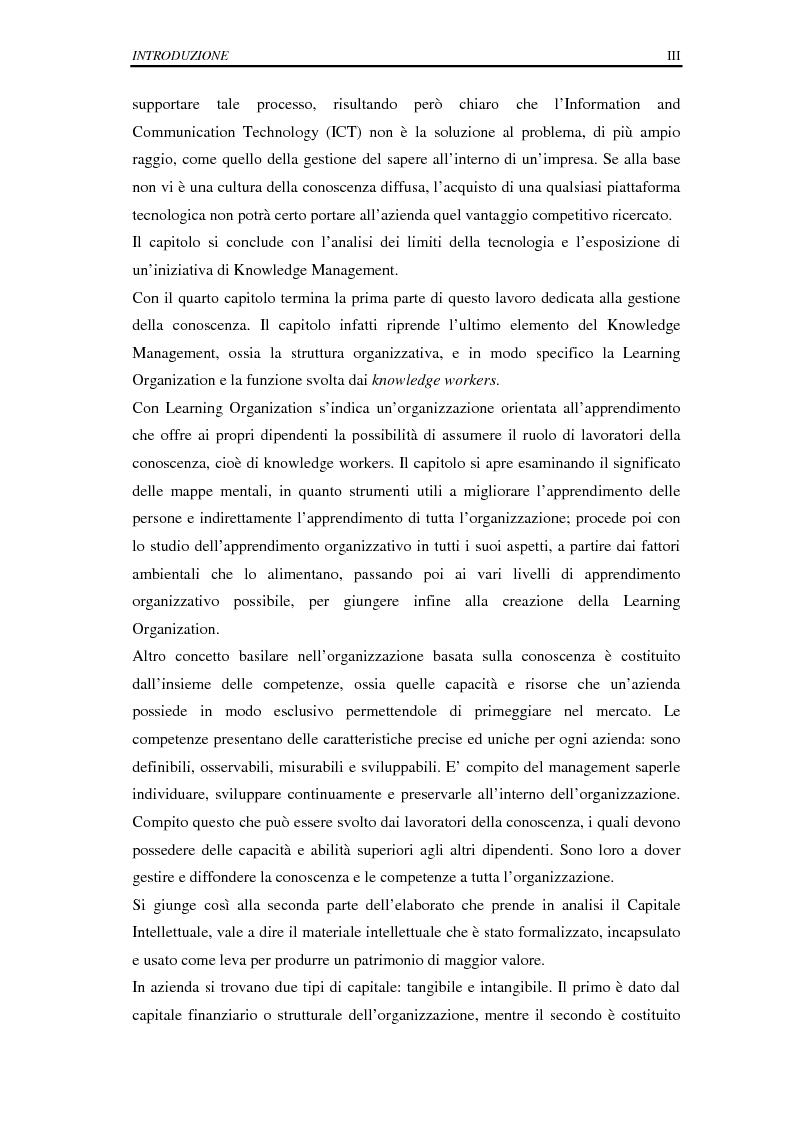 Anteprima della tesi: La selezione e la formazione on-line come supporto alla gestione del capitale intellettuale, Pagina 3