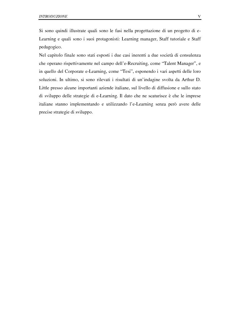 Anteprima della tesi: La selezione e la formazione on-line come supporto alla gestione del capitale intellettuale, Pagina 5