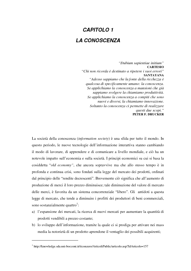 Anteprima della tesi: La selezione e la formazione on-line come supporto alla gestione del capitale intellettuale, Pagina 6