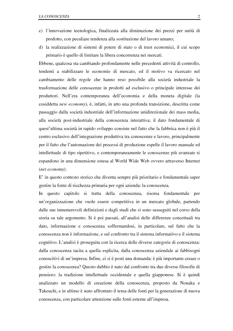 Anteprima della tesi: La selezione e la formazione on-line come supporto alla gestione del capitale intellettuale, Pagina 7