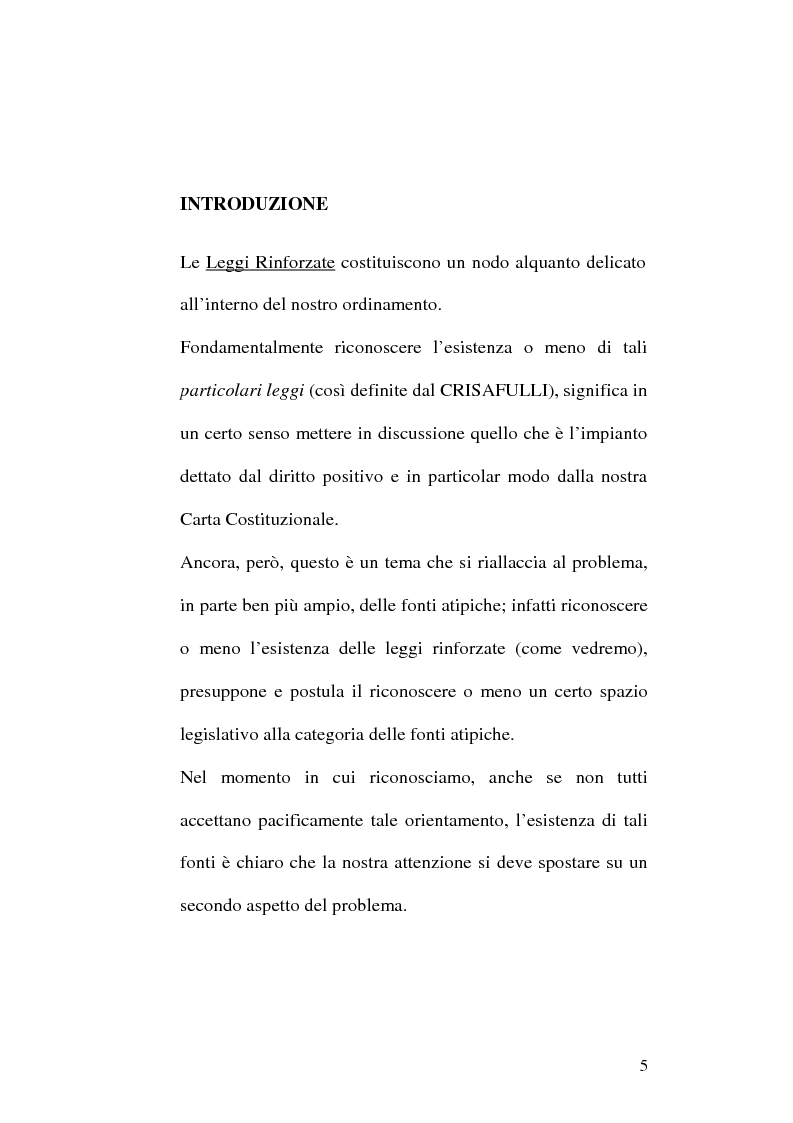 Anteprima della tesi: Le fonti dell'ordinamento italiano: fonti atipiche e leggi rinforzate, Pagina 1