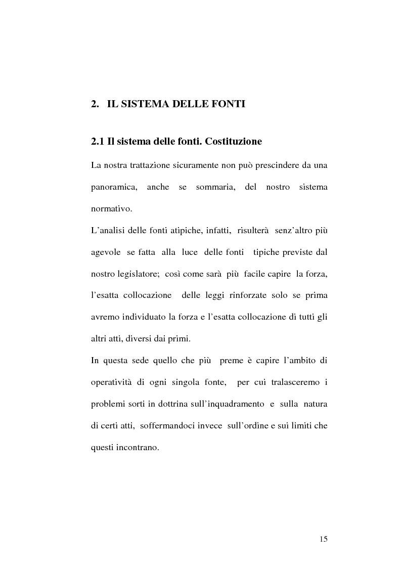 Anteprima della tesi: Le fonti dell'ordinamento italiano: fonti atipiche e leggi rinforzate, Pagina 11