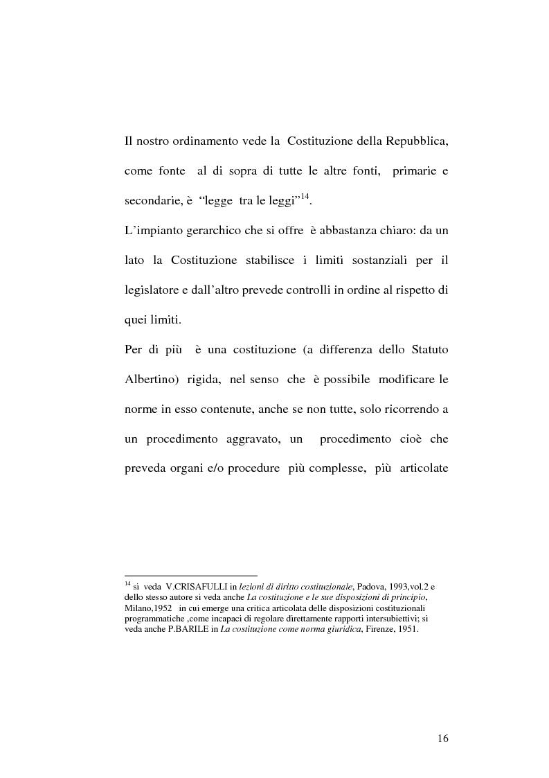 Anteprima della tesi: Le fonti dell'ordinamento italiano: fonti atipiche e leggi rinforzate, Pagina 12