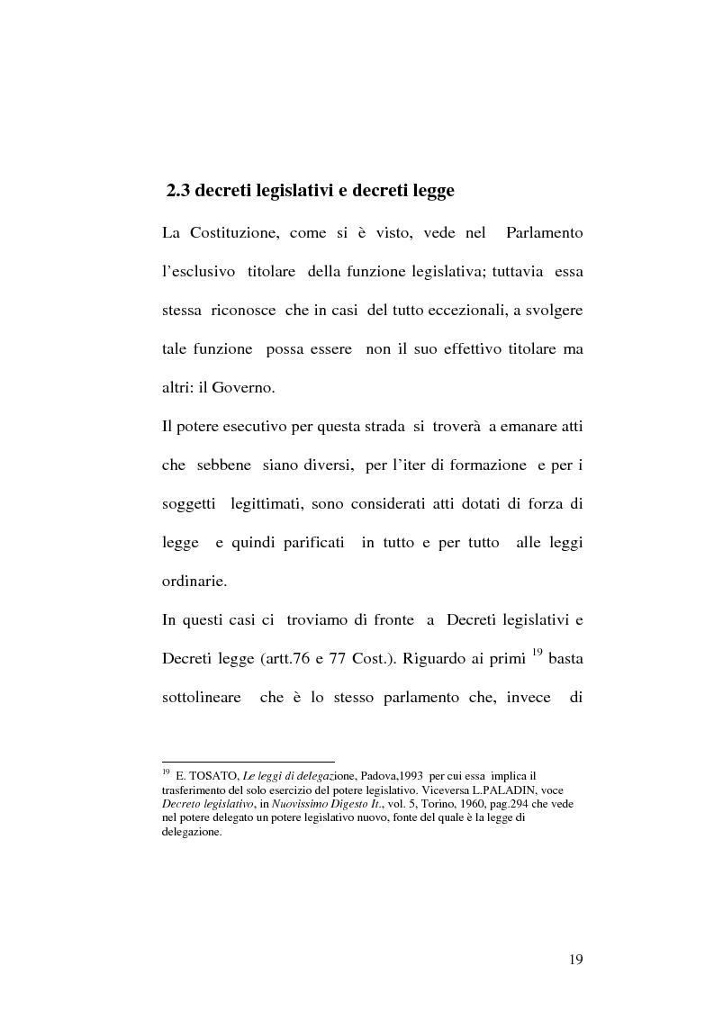 Anteprima della tesi: Le fonti dell'ordinamento italiano: fonti atipiche e leggi rinforzate, Pagina 15