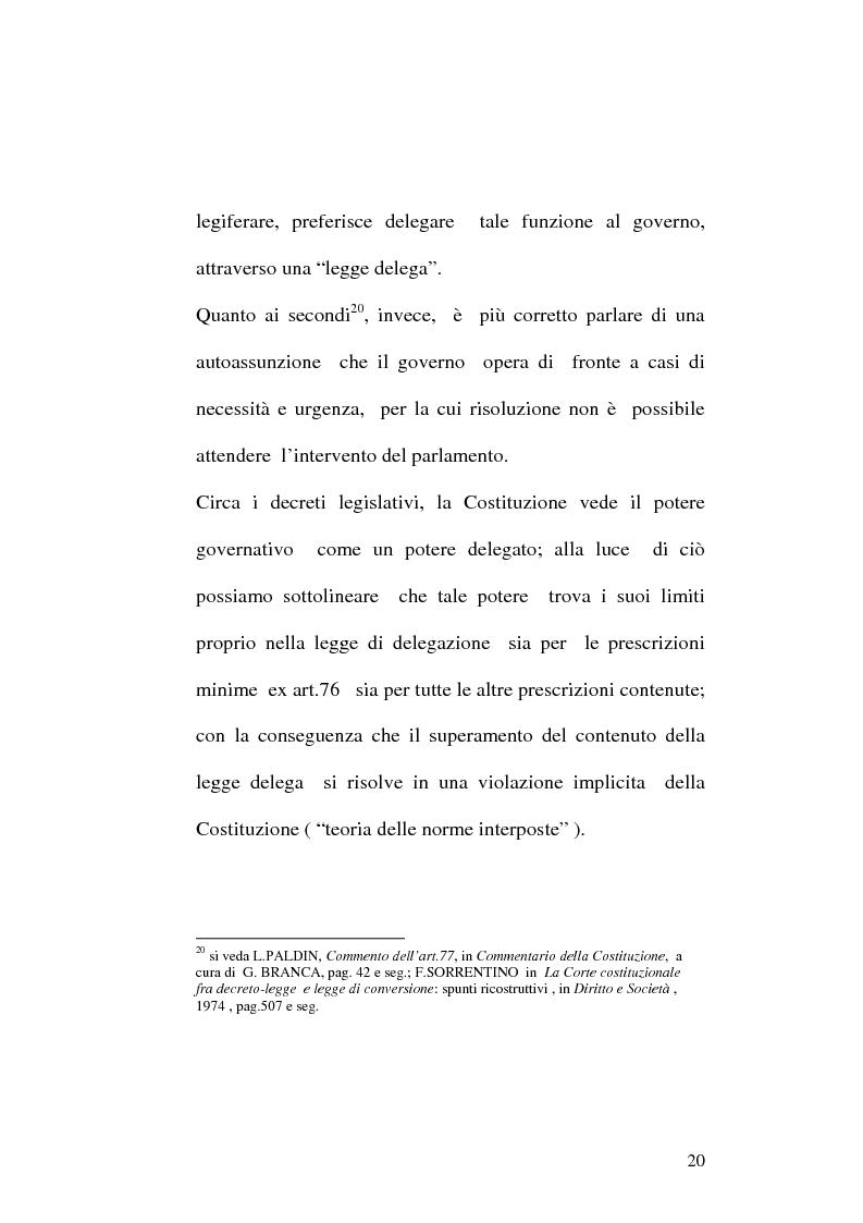 Anteprima della tesi: Le fonti dell'ordinamento italiano: fonti atipiche e leggi rinforzate, Pagina 16