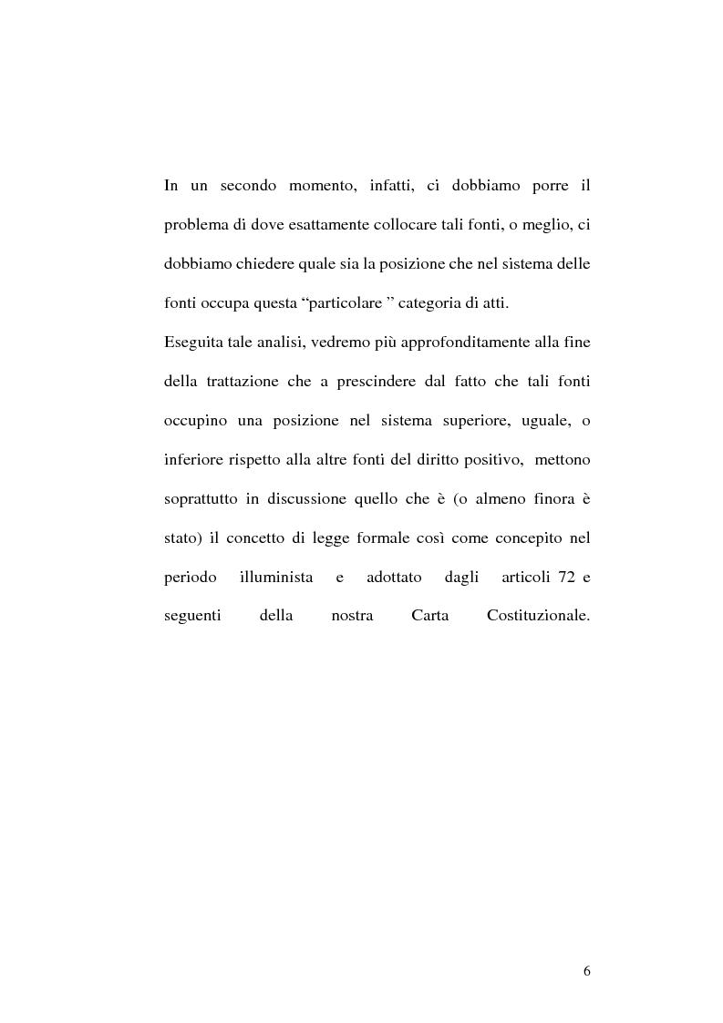 Anteprima della tesi: Le fonti dell'ordinamento italiano: fonti atipiche e leggi rinforzate, Pagina 2