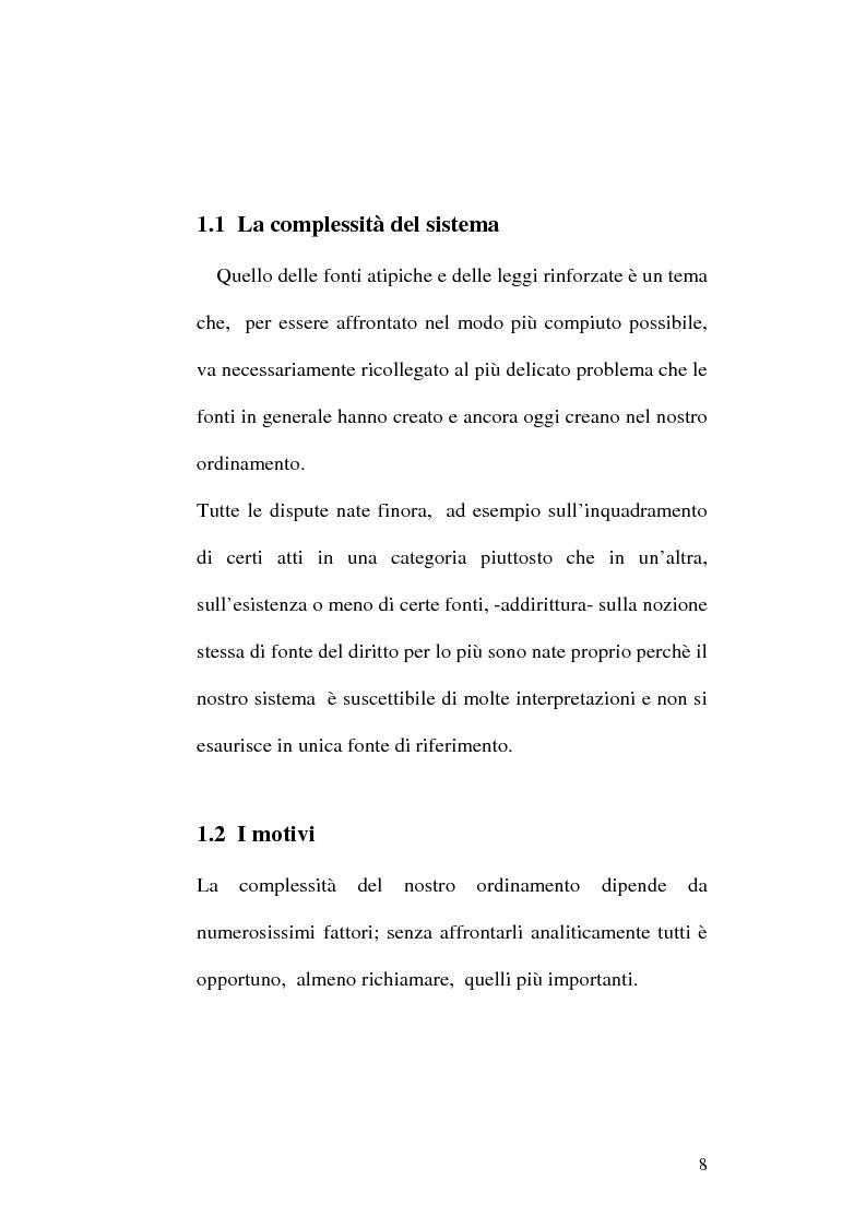 Anteprima della tesi: Le fonti dell'ordinamento italiano: fonti atipiche e leggi rinforzate, Pagina 4