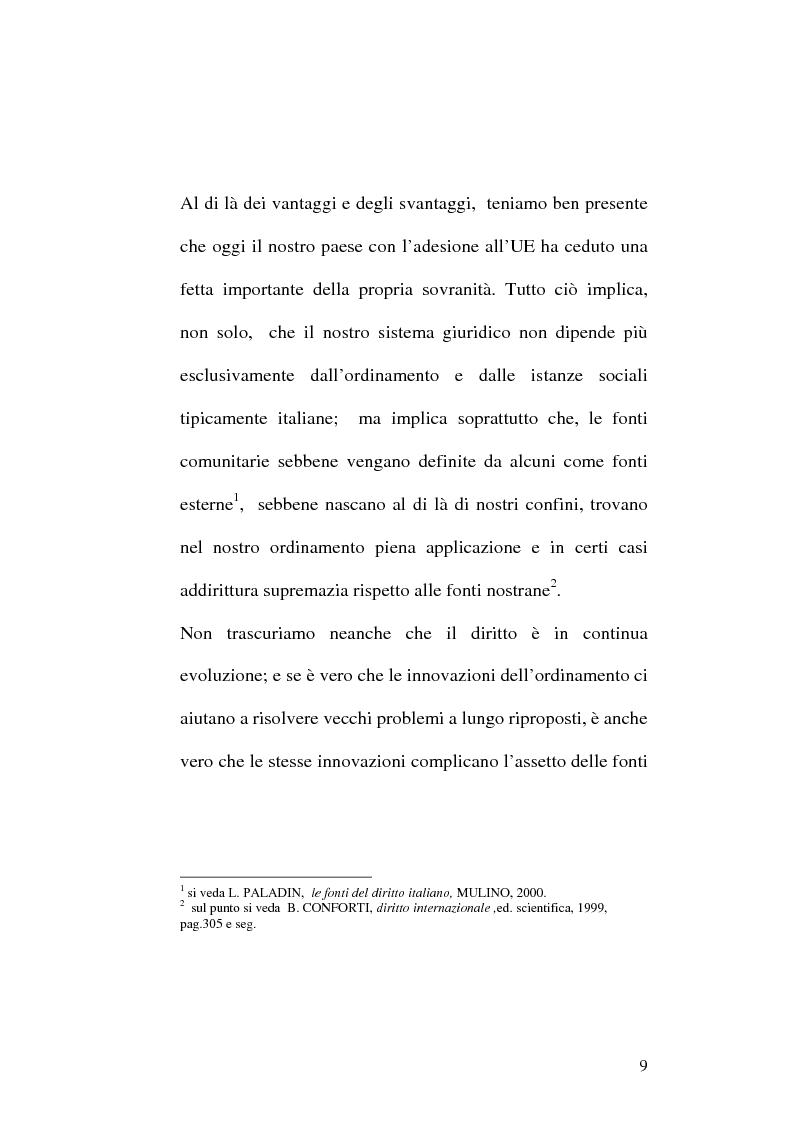 Anteprima della tesi: Le fonti dell'ordinamento italiano: fonti atipiche e leggi rinforzate, Pagina 5