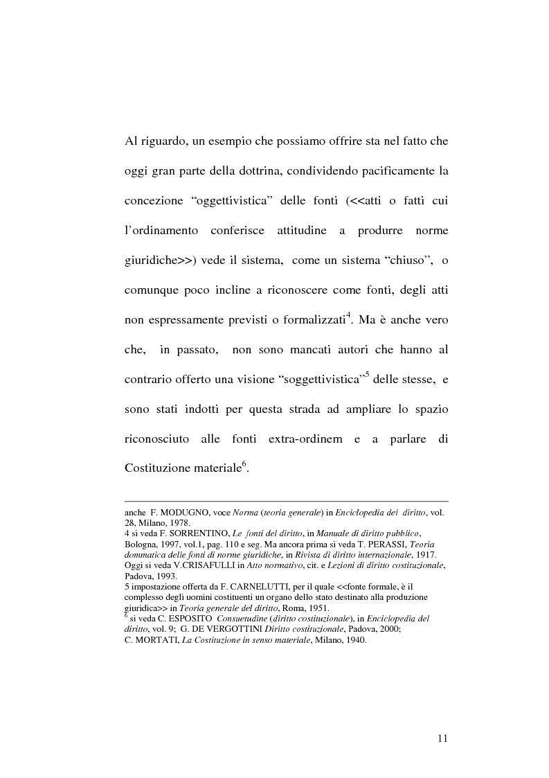 Anteprima della tesi: Le fonti dell'ordinamento italiano: fonti atipiche e leggi rinforzate, Pagina 7