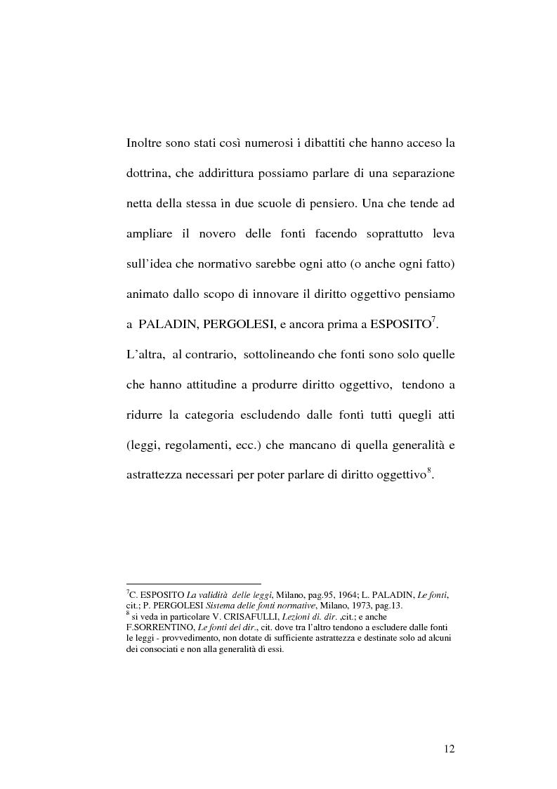 Anteprima della tesi: Le fonti dell'ordinamento italiano: fonti atipiche e leggi rinforzate, Pagina 8