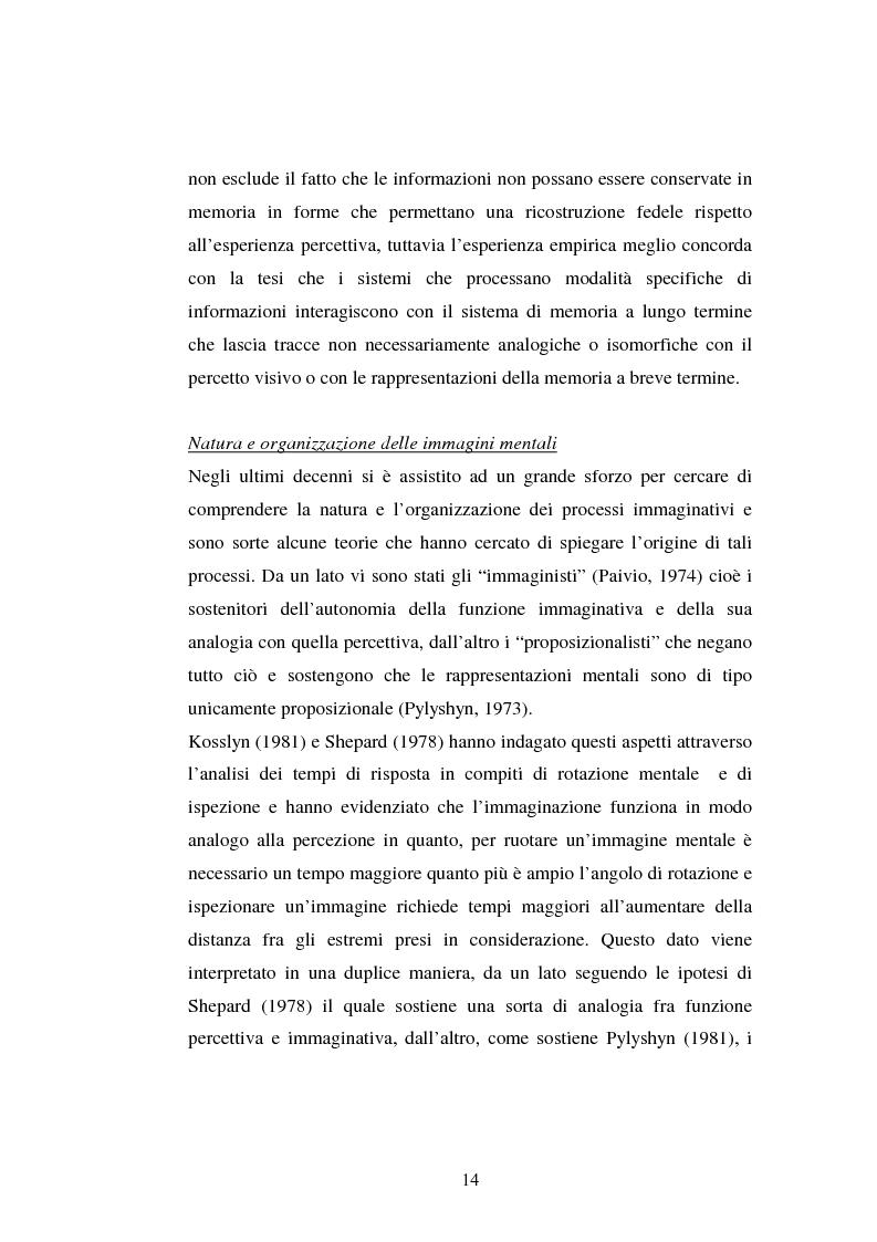 Anteprima della tesi: Processi di memoria e immaginazione in soggetti anziani, Pagina 10