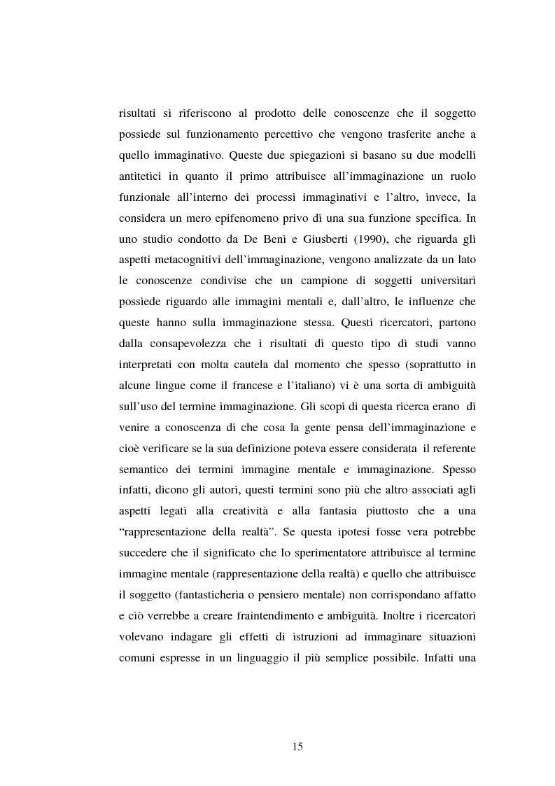 Anteprima della tesi: Processi di memoria e immaginazione in soggetti anziani, Pagina 11