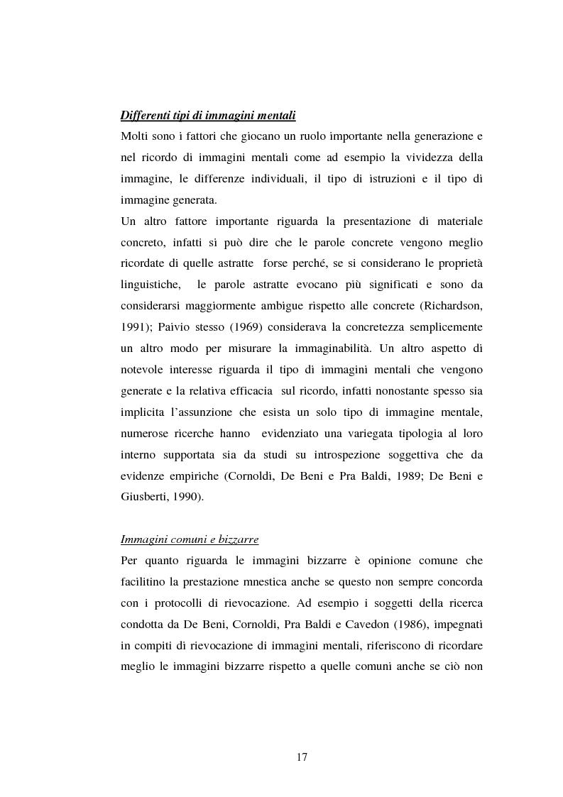 Anteprima della tesi: Processi di memoria e immaginazione in soggetti anziani, Pagina 13