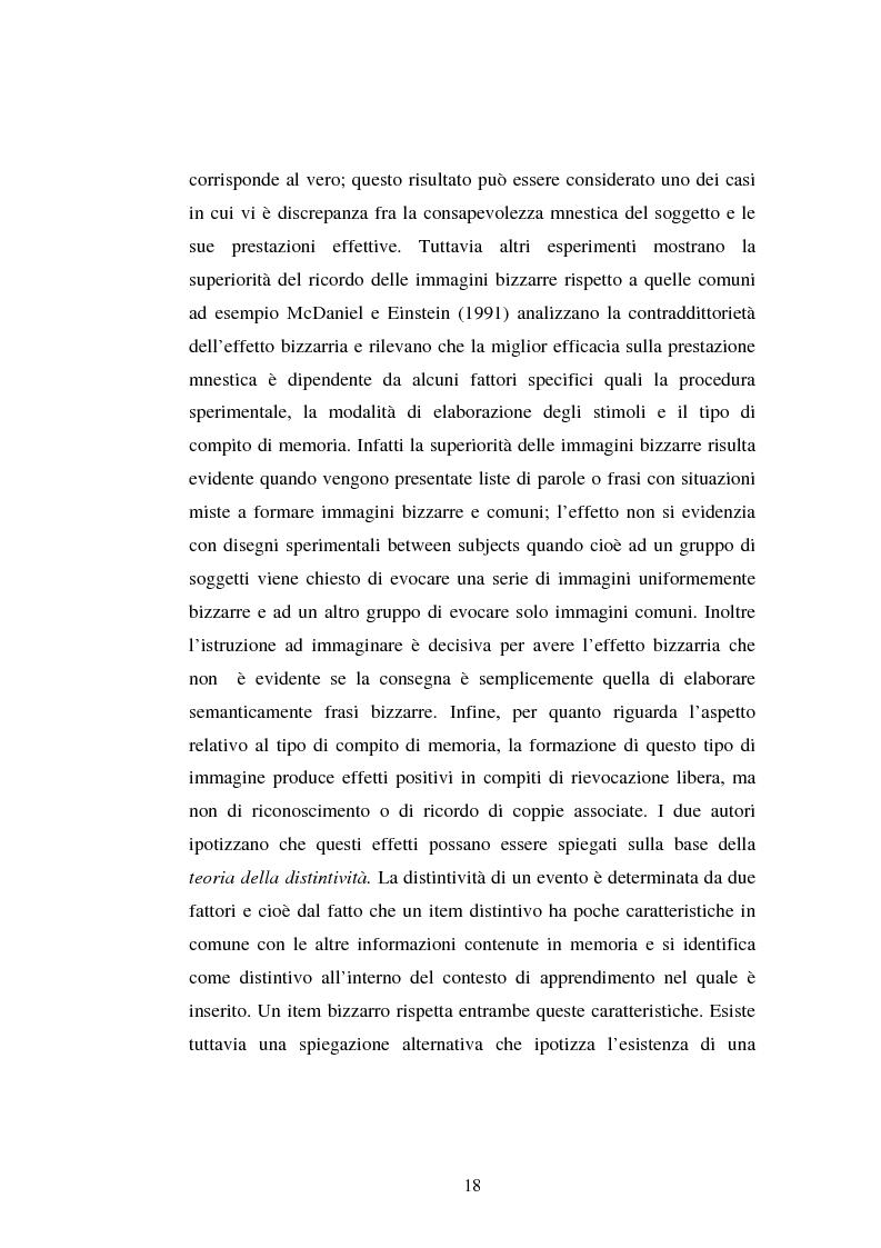 Anteprima della tesi: Processi di memoria e immaginazione in soggetti anziani, Pagina 14