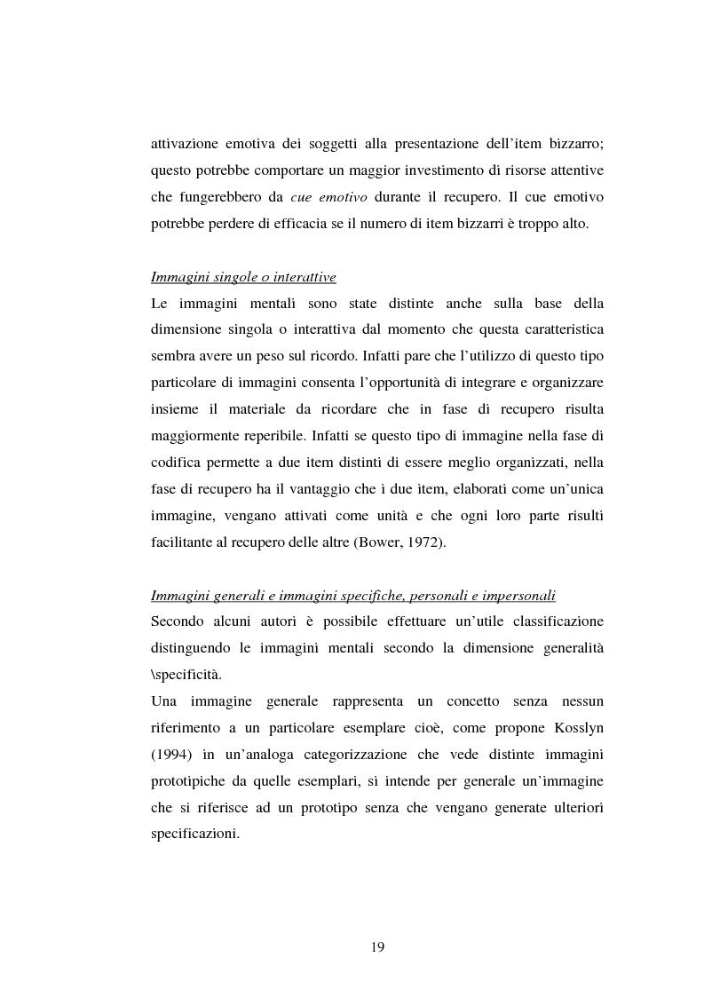 Anteprima della tesi: Processi di memoria e immaginazione in soggetti anziani, Pagina 15