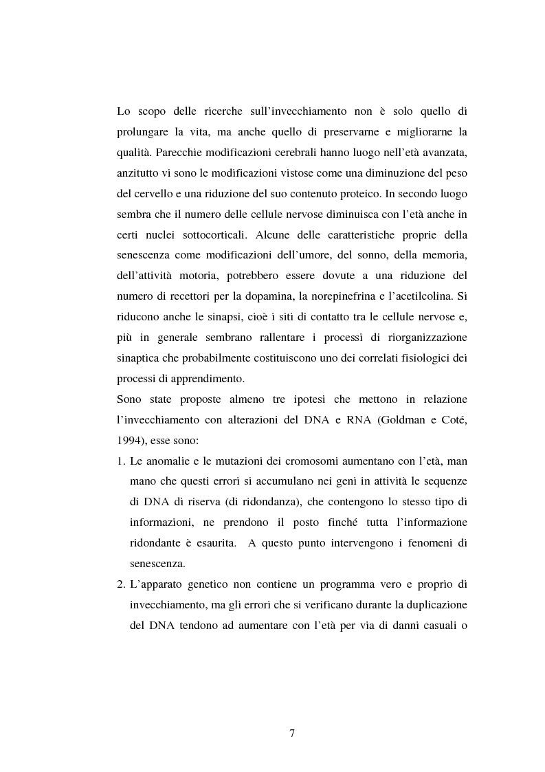 Anteprima della tesi: Processi di memoria e immaginazione in soggetti anziani, Pagina 3