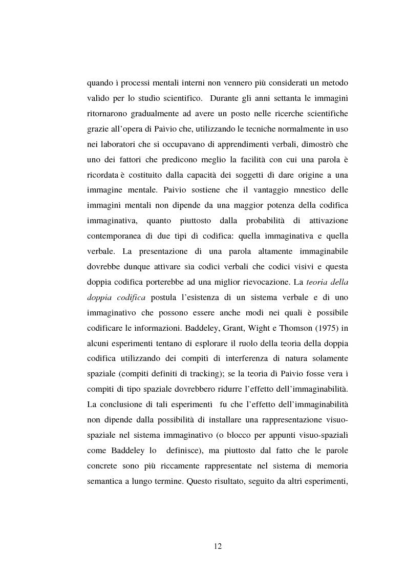 Anteprima della tesi: Processi di memoria e immaginazione in soggetti anziani, Pagina 8