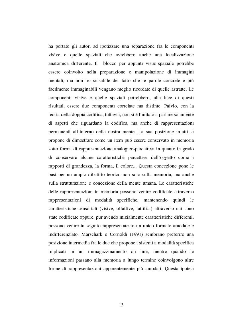 Anteprima della tesi: Processi di memoria e immaginazione in soggetti anziani, Pagina 9