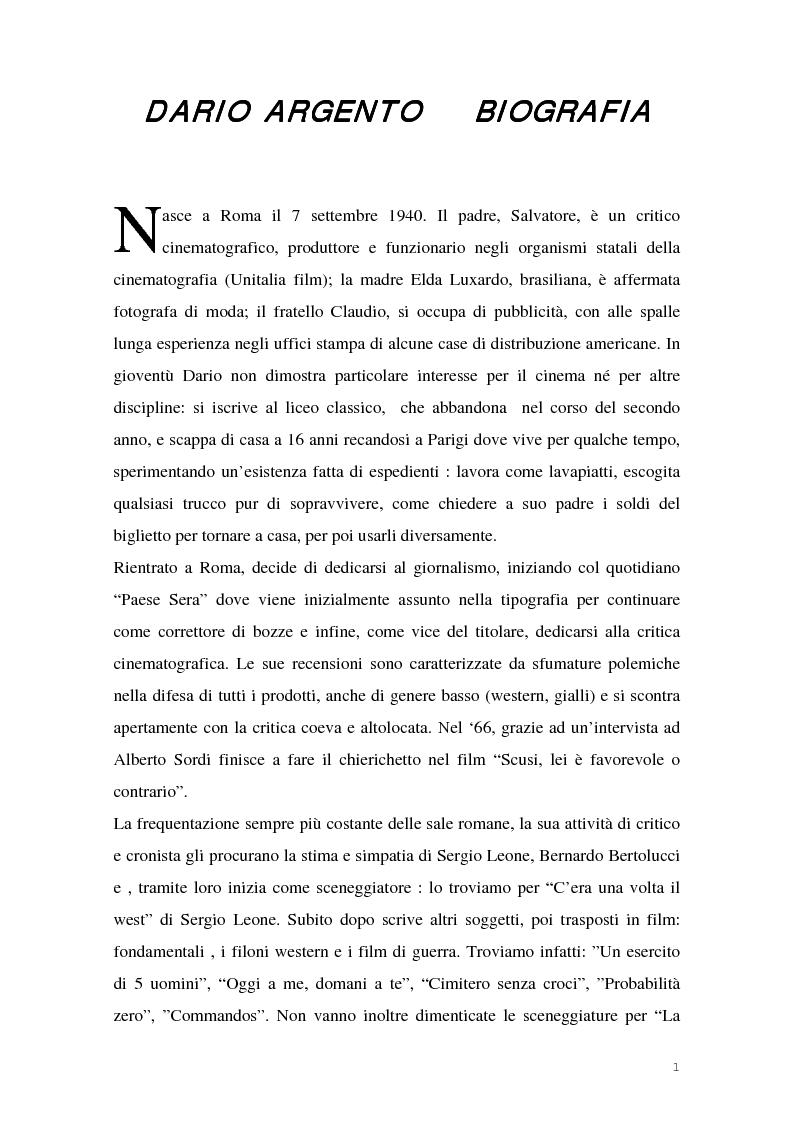 Anteprima della tesi: I film di Dario Argento, Pagina 3