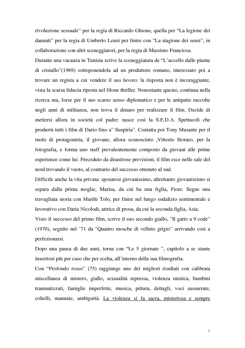 Anteprima della tesi: I film di Dario Argento, Pagina 4