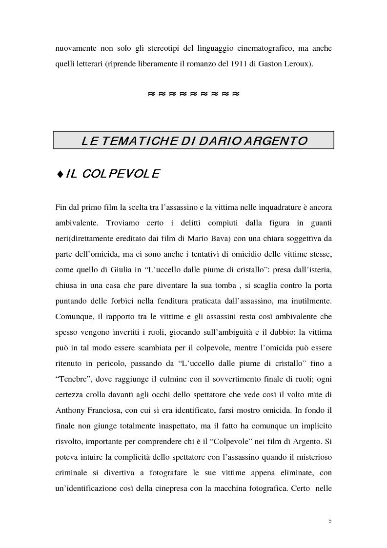 Anteprima della tesi: I film di Dario Argento, Pagina 7