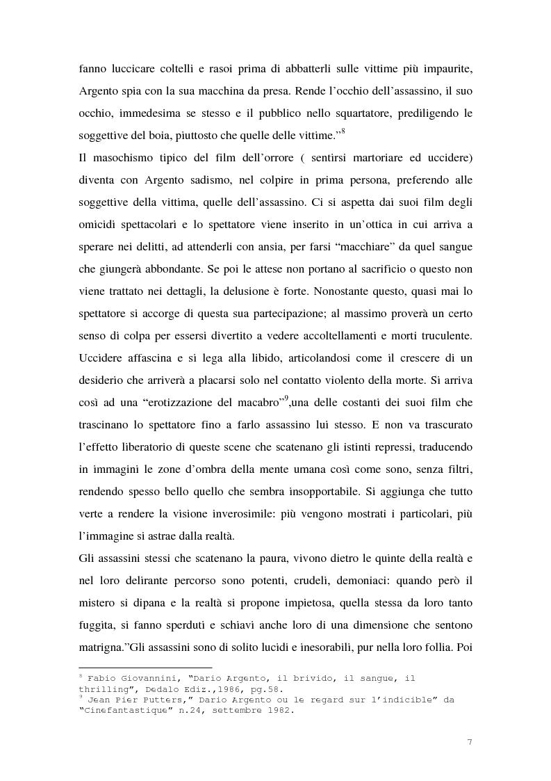 Anteprima della tesi: I film di Dario Argento, Pagina 9