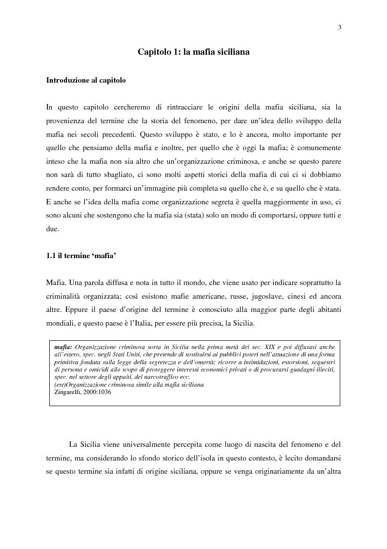 Anteprima della tesi: Indagine sull'immagine cinematografica della mafia, Pagina 3