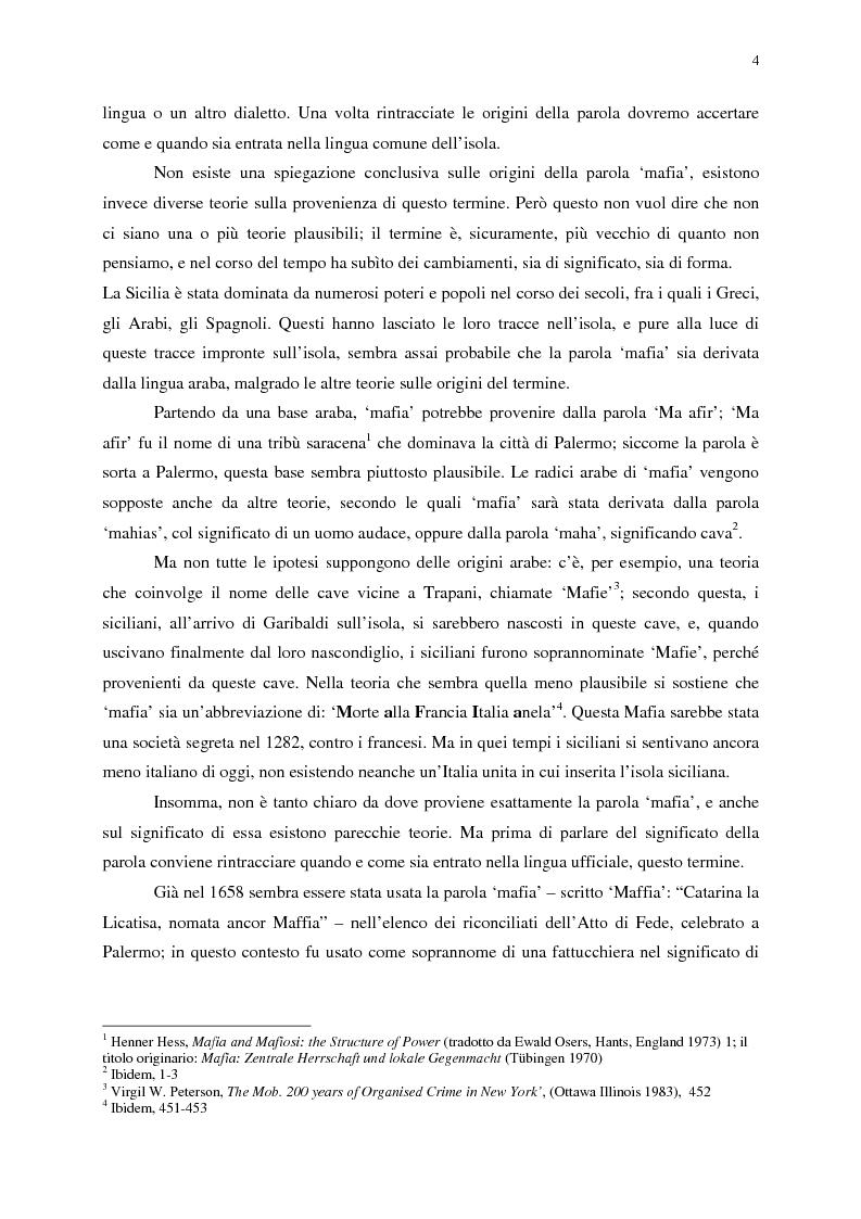 Anteprima della tesi: Indagine sull'immagine cinematografica della mafia, Pagina 4
