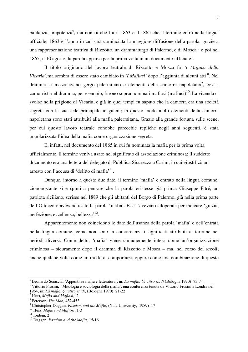 Anteprima della tesi: Indagine sull'immagine cinematografica della mafia, Pagina 5