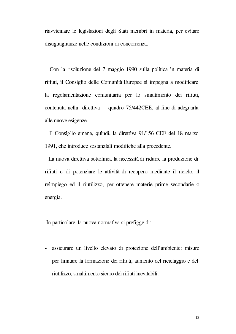 Anteprima della tesi: La disciplina giuridica della gestione dei rifiuti, Pagina 10